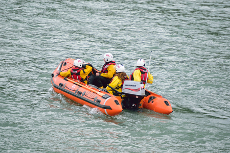 lifeboat: RNLI Lifeboat in the Sea