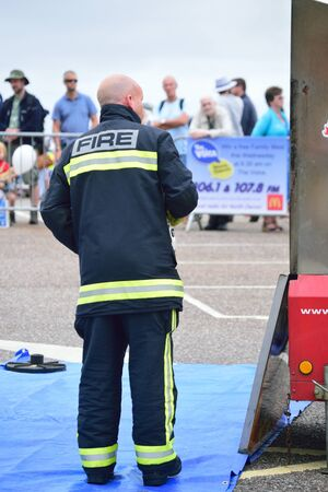 Fireman standing in full PPE