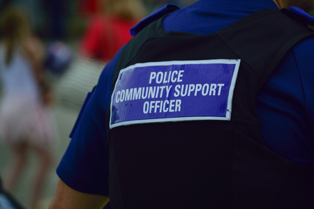 PCSO Police Community support officer  Back of stab vest
