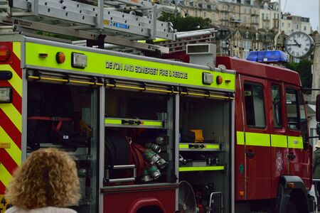 Fire engine close up