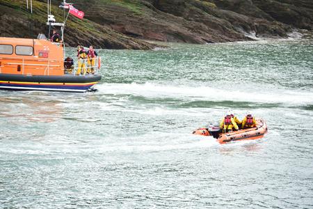 coastguard: RNLI Lifeboat in the North Devon Sea