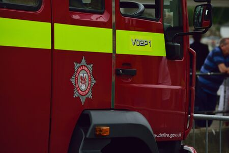 Close  up of fire engine Editorial