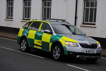 Ambulance RRV Car Editorial