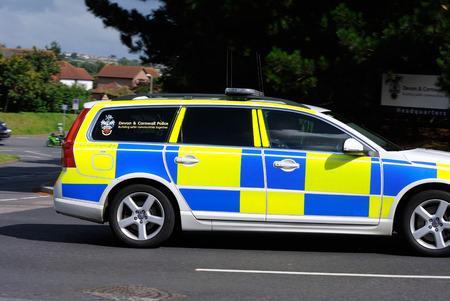 Devon and Cornwall police, Traffic car Editorial