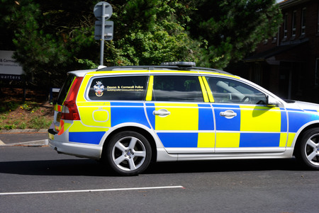 police unit: Devon and Cornwall police, Traffic car Editorial