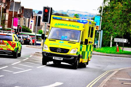 blue lights: Ambulance on a 999 call with blue lights on
