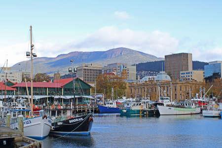 A cityscape of Hobart, Tasmania, Australia