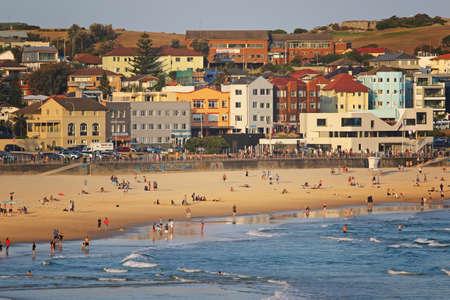Summer activity at Bondi Beach, Sydney, Australia