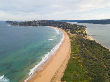 A view of Palm Beach, Sydney from Barrenjoey Head.