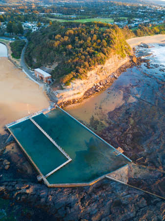 View of Narrabeen rock pool from above.