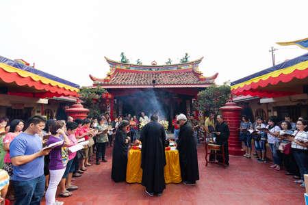 Tangerang, Indonesia - July 22, 2018: A ceremony being held at Boen Tek Bio temple.