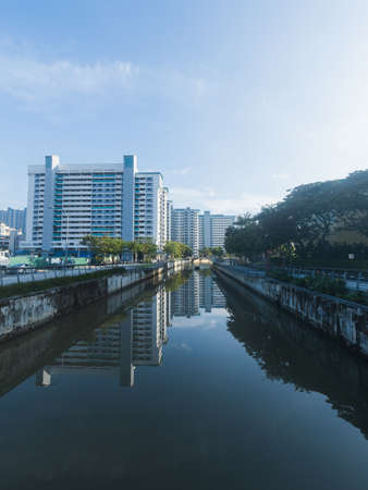 Morning view along the Rochor River, Singapore. Stock Photo