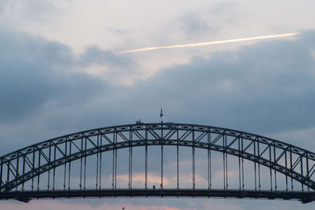 Cloudy sky above Sydney Harbour Bridge. Stock Photo - 137366897
