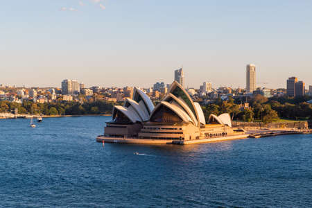 Sydney, Australia - March 20, 2020: Sydney Opera House view with clear blue sky. Editorial