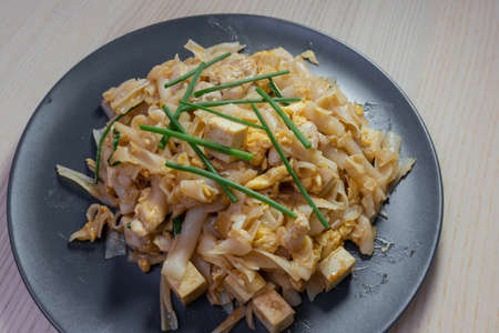 Close-up view of stir fried pad thai. Stock Photo