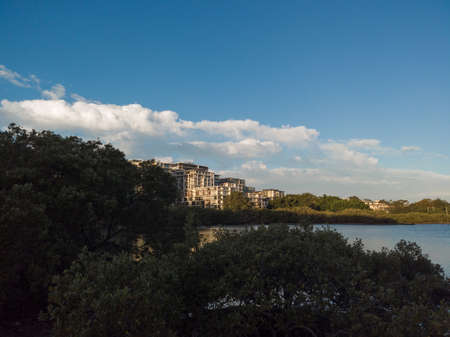Apartment building by the waterfront at Meadowbank, Sydney.