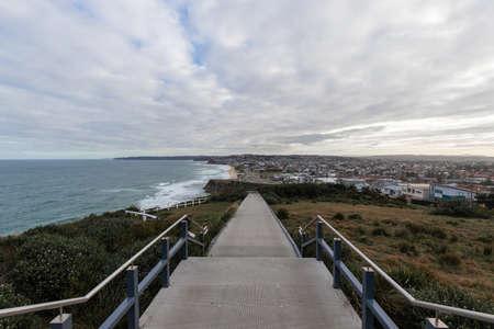 Newcastle coastal walk towards Merewether Beach, Australia.
