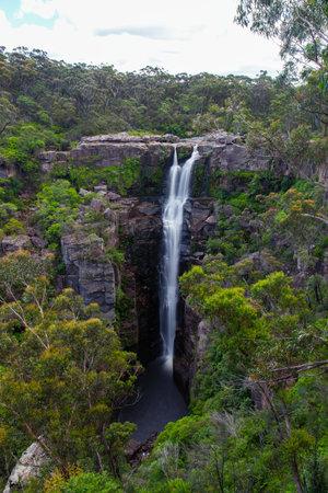Full view of Carington Falls at Kangaroo Valley, NSW, Australia. 写真素材