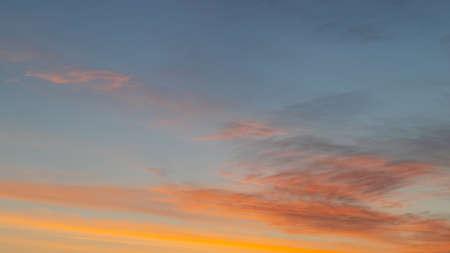 A beautiful sunrise with blue and orange tone. Standard-Bild