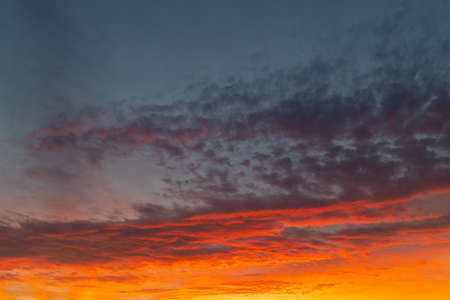 A beautiful red orange sky at sunrise time.