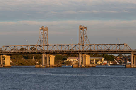 Sydney, Australia - September 9, 2021: Beautiful afternoon view of Ryde Bridge. Editorial
