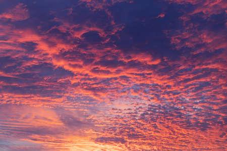 A beautiful sky during sunrise.