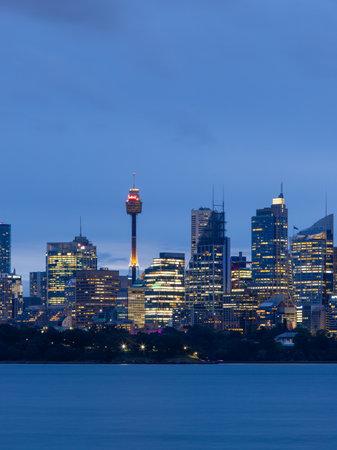 Sydney, Australia - October 12, 2021: Sydney skyscrapers view at the CBD.