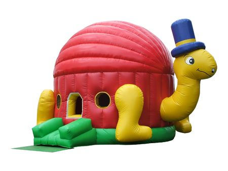 A Colourful Inflatable Ball Pond.