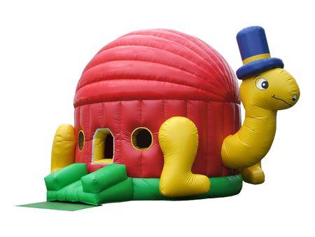 castillos: Una bola de colores inflables Estanque.