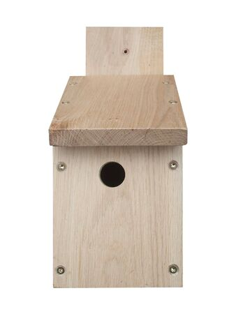 A Newly made Wooden Bird Box. Stock Photo - 5112237