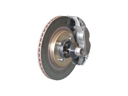 A Car Brake Disc and Calliper.