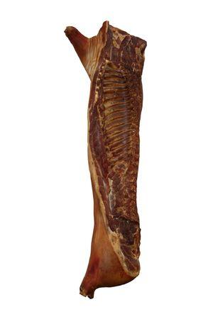 carcass: Een Prepared Bacon Carcass van een varken.  Stockfoto