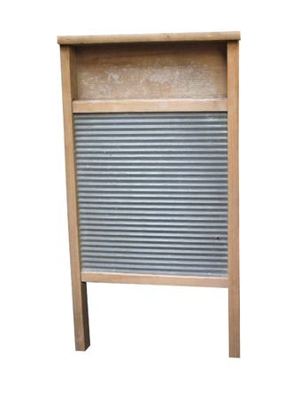 A Traditional Wooden Antique Washing Scrubbing Board.