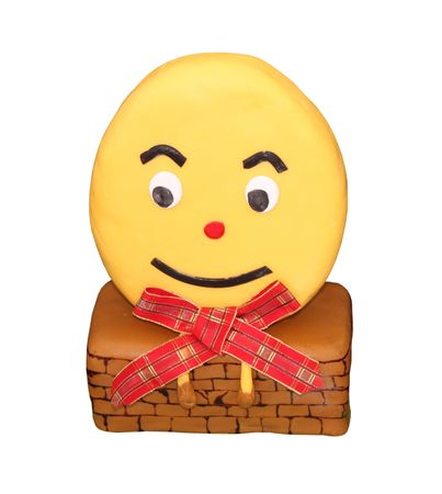 humpty dumpty: A Cake Decorated as the Character Humpty Dumpty.