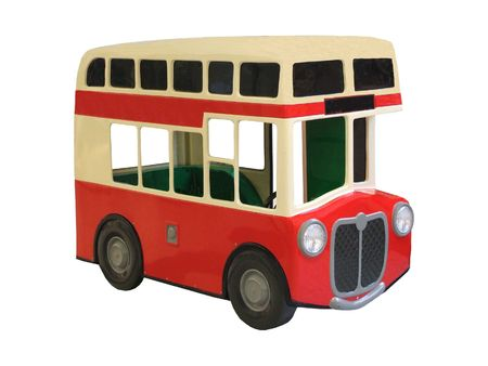 omnibus: A Childrens Play Toy Double Decker Bus.