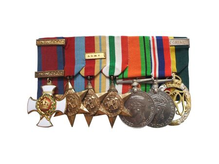 war decoration: A Collection of British Army Military Medals.