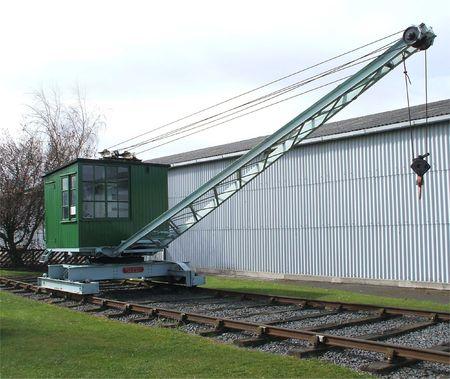 A Rail Track Mounted Long Jib Crane. Stock Photo - 5979995