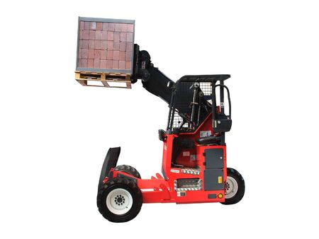A Fork Lift Truck with a Pallet Load of Bricks. Stock Photo - 6050550