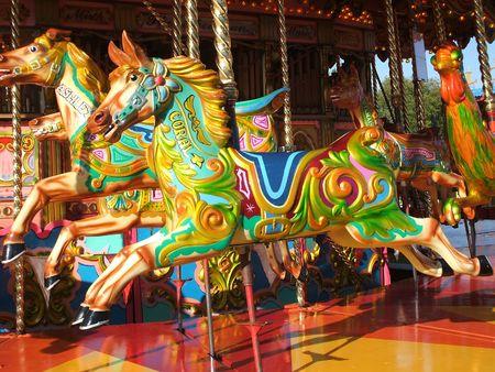 A Carousel Horse on a Fun Fair Ride.