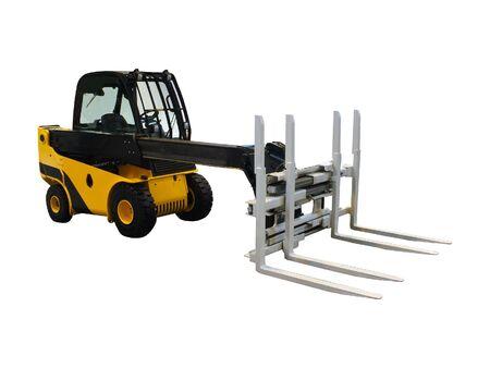 fork lift: Un Long Reach Industrial Fork Lift Truck. Foto de archivo
