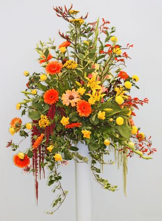 A Spectacular Flower Arrangement Display on a Stand. Stock Photo - 6138168