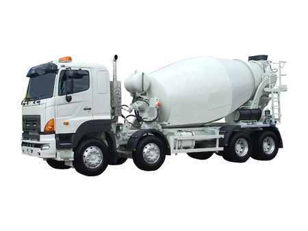 A Large Cement Mixing and Delivery Lorry.