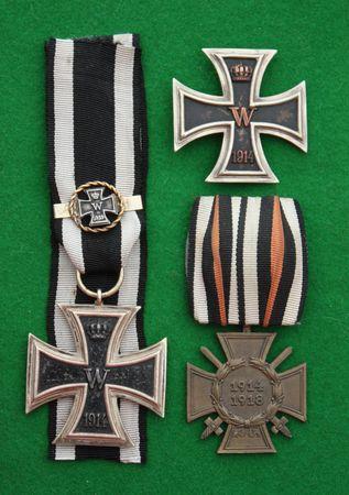 World War One Duitse militaire IJzeren Kruis medailles. Stockfoto - 6305898