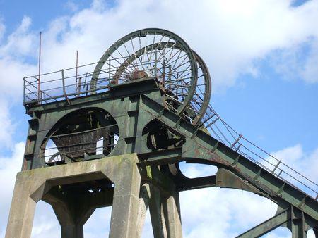 Headstocks of a Disused British Coal Mine.