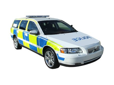 A High Speed Motorway Police Patrol Car.