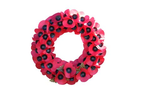 A Remembrance Day Wreath with a Poppy Design.