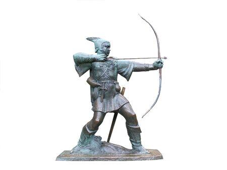 A Full Size Metal Statue of Robin Hood.