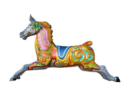 A Horse from a Fun Fair Carousel Ride.