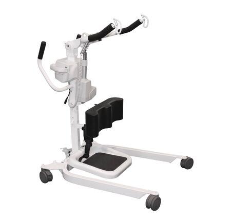 personne handicap�e: Un treuil m�canique pour aider une personne handicap�e.