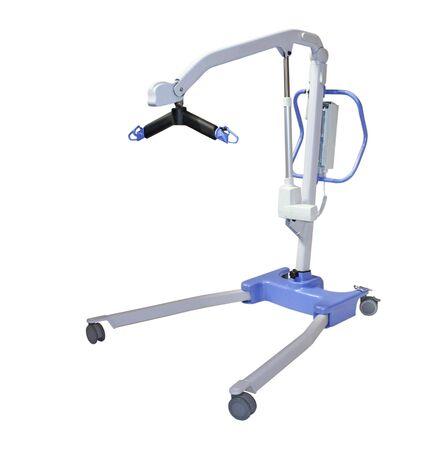 hijsen: Een heftakel gemonteerd voor een handicap persoon.